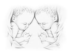 Bildresultat för Angel with Twins Koi Fish Drawing, Fish Drawings, Baby Drawing, Pencil Drawings, Art Drawings, Tattoos Skull, Girl Neck Tattoos, Baby Tattoos, Foot Tattoos