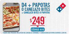 Pizza D4, papotas y canelazo bites por $249 pesos