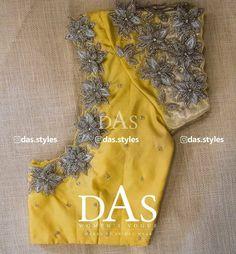 Cutwork Blouse Designs, Simple Blouse Designs, Stylish Blouse Design, Bridal Blouse Designs, Hand Work Blouse Design, Designer Blouse Patterns, Aari Embroidery, Yellow Blouse, Instagram