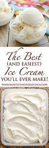 Can anyone ever turn down a scoop of rich and creamy homemade vanilla ice cream? This ice cream recipe is the easiest you'll ever make and it's adaptable for whichever add-ins you're craving. I try to(Homemade Mix Salts) Ice Cream Treats, Ice Cream Desserts, Köstliche Desserts, Frozen Desserts, Ice Cream Recipes, Delicious Desserts, Dessert Recipes, Yummy Food, Frozen Treats