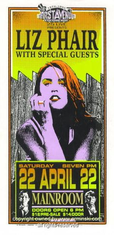 Liz Phair music gig posters | 1995 Liz Phair Concert Poster by Mark Arminski (MA-033)
