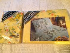 Vintage TasteMaker Yellow Floral Full Flat Sheet & Pillow Cases In Package | eBay