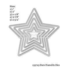 Stampin' Up Star Framelits sizes