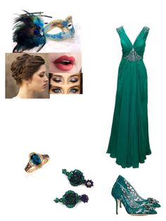 """halloween masquerade party"" by irisgomezmora ❤ liked on Polyvore featuring Masquerade, Catherine Deane, Impression Bridal, Dolce&Gabbana and LE VIAN"