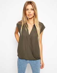 ASOS Sleeveless Wrap Blouse