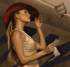 detail from Red Letter Day by Peregrine Heathcote