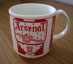 1970's Arsenal Football Club Mug - On a visit to London my mother bought this mug and made me into an Arsenal Fan.