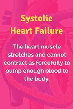 Systolic Heart Failure occurs when the heart muscle stretches and cannot contract as forcefully to pump enough blood to the body. Heart failure decreases blood flow through the heart and blood flow to the body. Check out this heart failure guide for nursi Nursing Career, Nursing Tips, Nursing Notes, Left Sided Heart Failure, Systolic Heart Failure, Cardiovascular Nursing, Nursing School Motivation, Medical Surgical Nursing, Cardiac Nursing