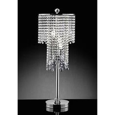 Black crystal table lamp | For the Home | Pinterest