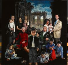 On Friday, November 15, 2013, Danish artist, Mr. Thomas Kluge, unveiled a new portrait of the Danish royal family entitled, Kongehuset, in connection with the opening of the exhibition, Thomas Kluge: Royal Portraits, at the Amalienborgmuseet in Copenhagen