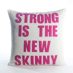 Fitness Inspiration From a Throw Pillow! : 'Cause sometimes you need something comfy to get you off your butt. #SelfMagazine