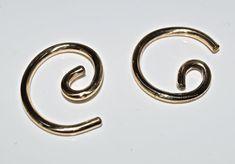 10 Gauge 6 Gold Earrings by SilverSunStudio on Etsy