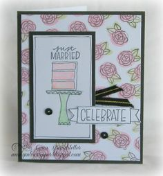 Gina's Little Corner of StampinHeaven: May Stamp of the Month - Celebrate with Cake