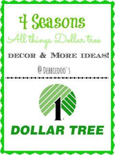 #dollartree seasonal decorating ideas. All 4 seasons in one place