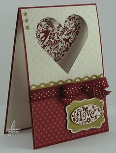 "Stampin up! ""You are loved"" window card Cool Cards, Diy Cards, Card Making Inspiration, Making Ideas, Valentine Love Cards, Window Cards, Card Tags, Creative Cards, Anniversary Cards"