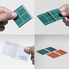 3D tennis court business card by Antonio Correa