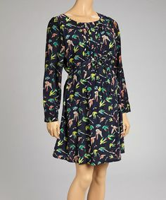 Take a look at this Navy Bird Maternity Shift Dress by Hot Mama Maternity on #zulily today!