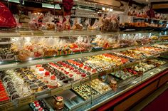 The desert counter at Ferrera Cafe in Little Italy on a New York food tour