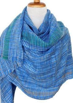 Orly check - wool w viscose - Blue