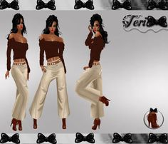 ✿ ¸. • * ¨ * • ☆Just out of Peer!☆ ¸. • * ¨* • ✿  ✮KHAKI GAUCHO  BUNDLE: http://www.imvu.com/shop/product.php?products_id=22188335  *Comes with full gauchos, sweater, and boots.  **Hair available at: http://www.imvu.com/shop/product.php?products_id=22177206  ✿My Full Catty: http://www.imvu.com/shop/web_search.php?manufacturers_id=95572994  ✿☆ ¸. • * ¨ * • ☆Just out of Peer ☆ ¸. • * ¨* • ☆✿