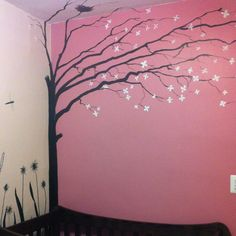 Personalized painting for baby girl room.