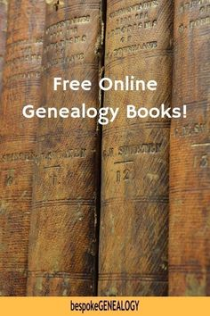 Where to Find Free Genealogy Books Free Online Genealogy Books. Where to find free genealogy researc Free Genealogy Sites, Genealogy Forms, Genealogy Search, Family Genealogy, Free Genealogy Records, Genealogy Chart, Lds Genealogy, Ancestry Free, Genealogy Humor
