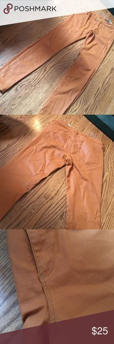 Zara pants Slim fit. Medium rise. Zara woman. Size 6. Rustic orange color, perfect for the fall. 38 inches from top to bottom Zara Pants