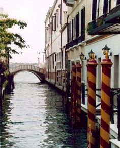 quiet side canal in Venice, Italy