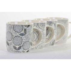 Mug porcelana 390 ml floral