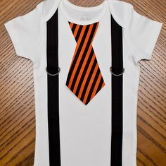 Boo 2 You Tie Onesie with Suspenders by rebasheba on Etsy, $17.00
