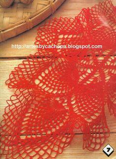 Artes by Cachopa - Croche  Trico: Caminho de mesa oval
