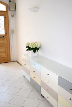 Dresser as sideboard... just think of all the little nessesities you could hide away in those drawers