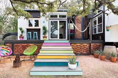 Colorful 400 sq ft Bohemian style house in Austin, Texas | Tiny Homes