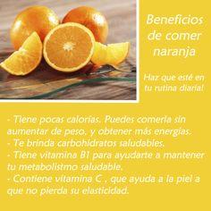 #CuidadoPersonal:  Los lunes, para nosotros, son de cuidado personal. Hoy te traemos los Beneficios de comer naranja, ¿qué esperas para hacer de la naranja parte de tu vida cotidiana?  ¡Pruebalo y verás excelentes resultados!  #Mujer #GriseldaTovar #belleza