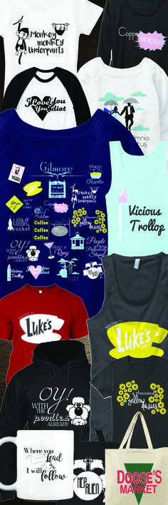 GILMORE GIRLS FANS! Just in time for the revival! LOVE everything in this shop!! #Gilmoregirls