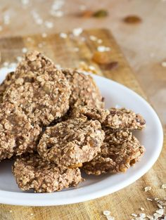 Banana Oatmeal Fitness Cookies. For when you need an energy boost | #vegan #cookie | hurrythefoodup.com