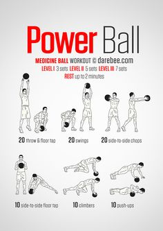Completed with 12 pound medicine ball