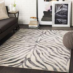 Niamey Black & Beige Animal Print Area Rug - x x - Black/Beige), Tapeto Designs Indoor Rugs, Online Home Decor Stores, Rugs Online, All Modern, Modern Contemporary, Modern Design, Modern Decor, Rugs In Living Room, Animal Print Rug