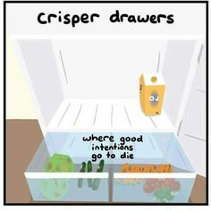 The crisper drawers: where good intentions go to die