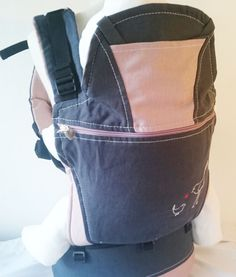 Organic charcoal and pink baby carrier Baby Carriers, Leather Backpack, Charcoal, Organic, Backpacks, Pink, Bags, Fashion, Handbags