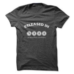 Released in 1988 T-shirt on  http://www.sunfrogshirts.com/Funny/Released-in-1988.html?11877 $19 USD