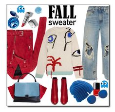 """Cozy Fall Sweaters"" by mussedechocolate ❤ liked on Polyvore featuring R13, Yves Saint Laurent, Andrew Marc, Joseph, CÉLINE, Furla, Anya Hindmarch, Coal, Burberry and Thierry Mugler"