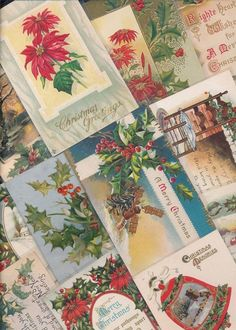 Beautiful Lot of 20 Vintage Christmas Postcards-Antique-ooo699 #Christmas