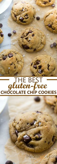 The BEST gluten-free chocolate chip cookies! Everyone always goes crazy for these! via meaningfuleats.com #glutenfree #chocolatechipcookies #glutenfreechocolatechipcookies #glutenfreecookies #gfchocolatechipcookies #glutenfreedessert #glutenfreebaking #chocolatechipcookierecipe #bestchocolatechipcookies