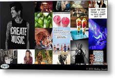 Create Music Metal Print By Holley Jacobs