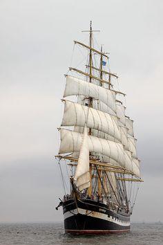 4-mast Bark Kruzenshtern on the Baltic Sea #Kruzenshtern #tallships #sailingship