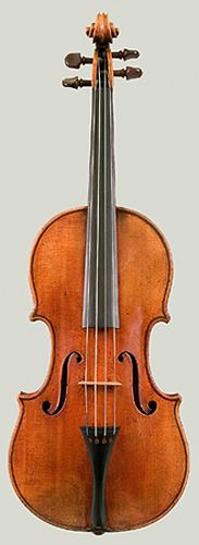 This violin, The Harrison, is a Stradivari violin, made before 1700. It not only looks beautiful but sounds marvelous.  This is one of the highest prized musical instruments. And yes, it's art.