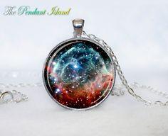 NEBULA Pendant  the Thors Helmet Nebula Galaxy by ThePendantIsland, $13.50