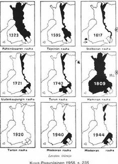 The border of Finland Finnish Civil War, History Of Finland, Map Pictures, Historical Maps, Helsinki, Lappland, Teaching, Education, Middle Ages