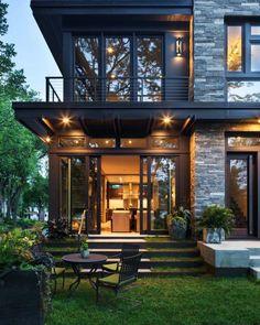 Escada home exterior design, modern home design, home architecture design, dream house exterior Style At Home, Future House, Design Exterior, Stone Exterior, Exterior Tiles, Exterior Cladding, Facade Design, Exterior Colors, Exterior Paint